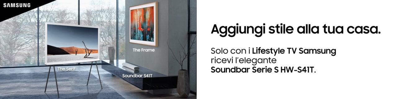 Nuovo promo Samsung: acquistando una di queste TV riceverete in regalo una Soundbar Serie S