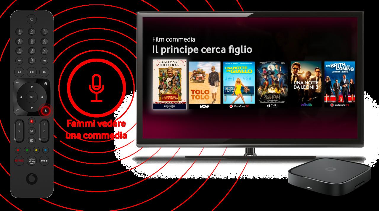 Il nuovo Tv Box Pro di Vodafone: nuova interfaccia, comandi vocali, supporto al 4K e tanto ancora (foto)