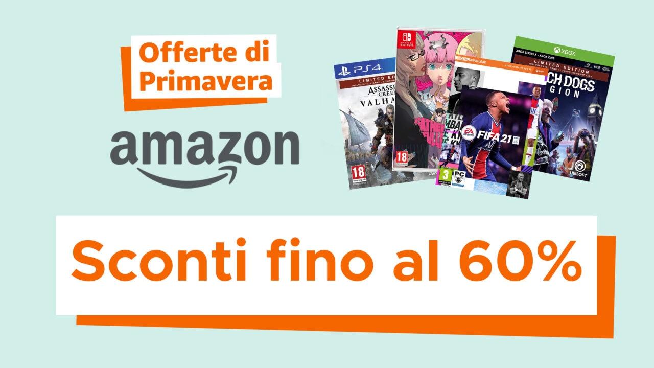 Offerte di Primavera Amazon sui videogiochi: PS4, PS5, Xbox One e Series X S, Switch e PC!
