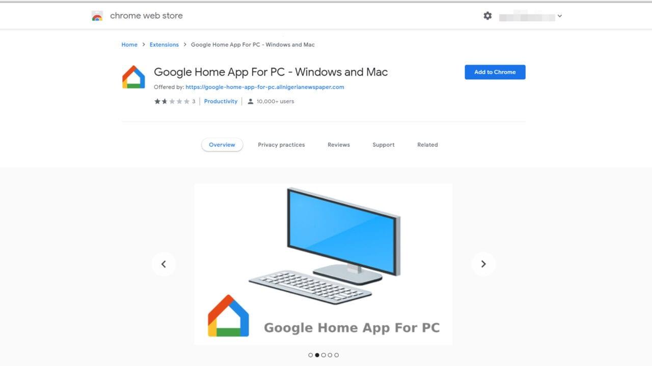 L'estensione 'Google Home App For PC' non è quello che sembra e dovreste disinstallarla