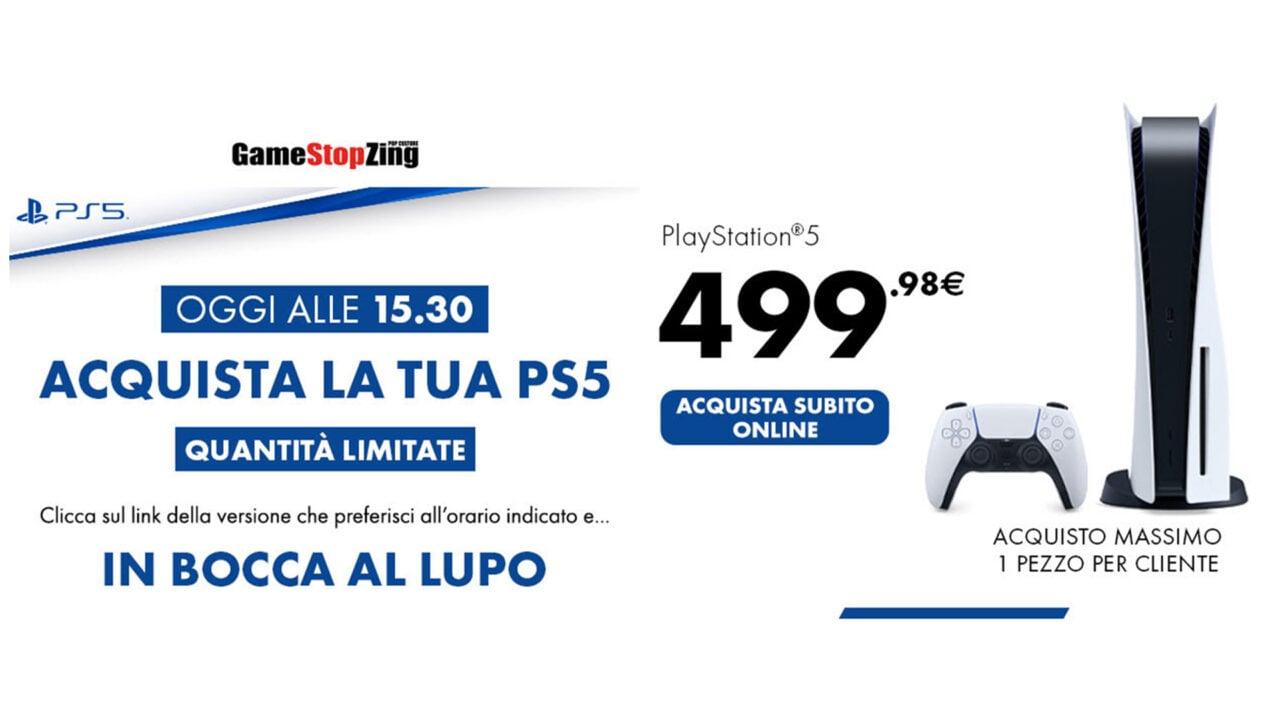 PS5 in vendita OGGI da GameStop alle 15:30 in punto