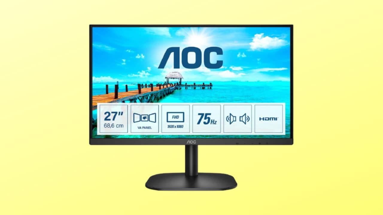 Monitor AOC G2 da 27″ in sconto SPECIALE: risoluzione FHD e 75 Hz a soli 159€
