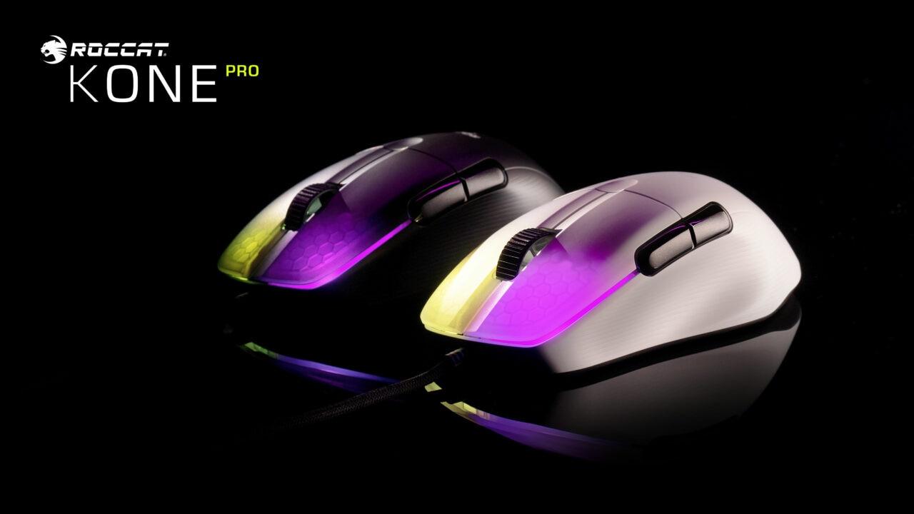 Roccat rivela la nuova linea Kone Pro, i mouse gaming con le ultime tecnologie e l'illuminazione AIMO RGB (foto)