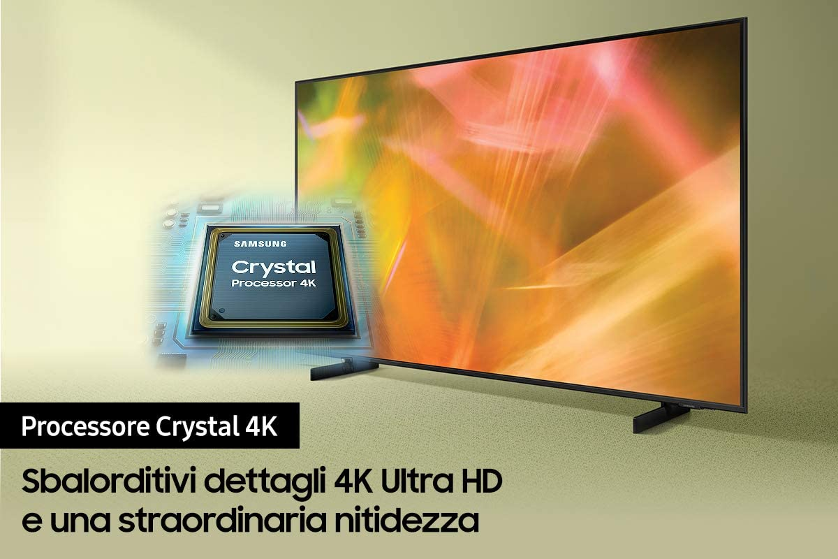 Super Sconti per la nuova serie Samsung Crystal 2021! Smart TV 4K HDR ad ottimi prezzi su Amazon
