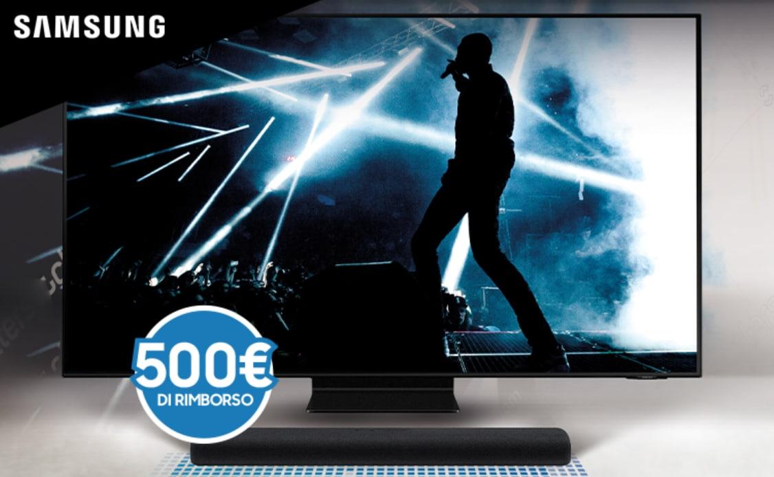 Samsung lancia la promo che offre rimborso 500€ a chi acquista un TV Neo QLED e una Soundbar