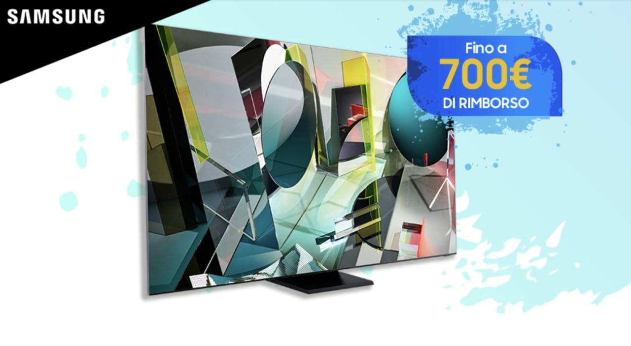 Samsung propone a chi acquista un TV QLED 2020 un rimborso fino a 700€