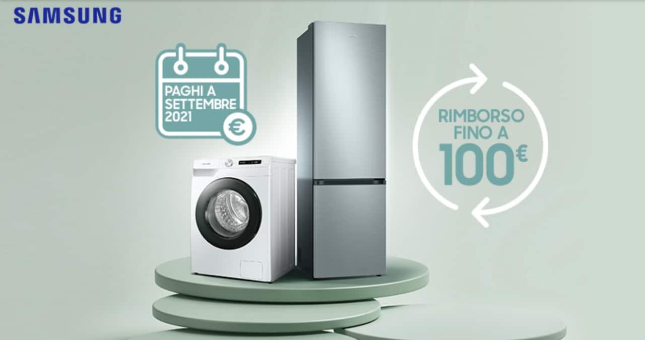 Con la nuova promo Samsung acquistare una lavatrice o un frigorifero frutta un rimborso fino a 100€