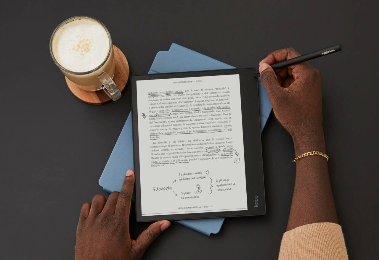 """Kobo Elipsa ufficiale: ebook reader e quaderno digitale da 10"""" con Stylus (foto)"""