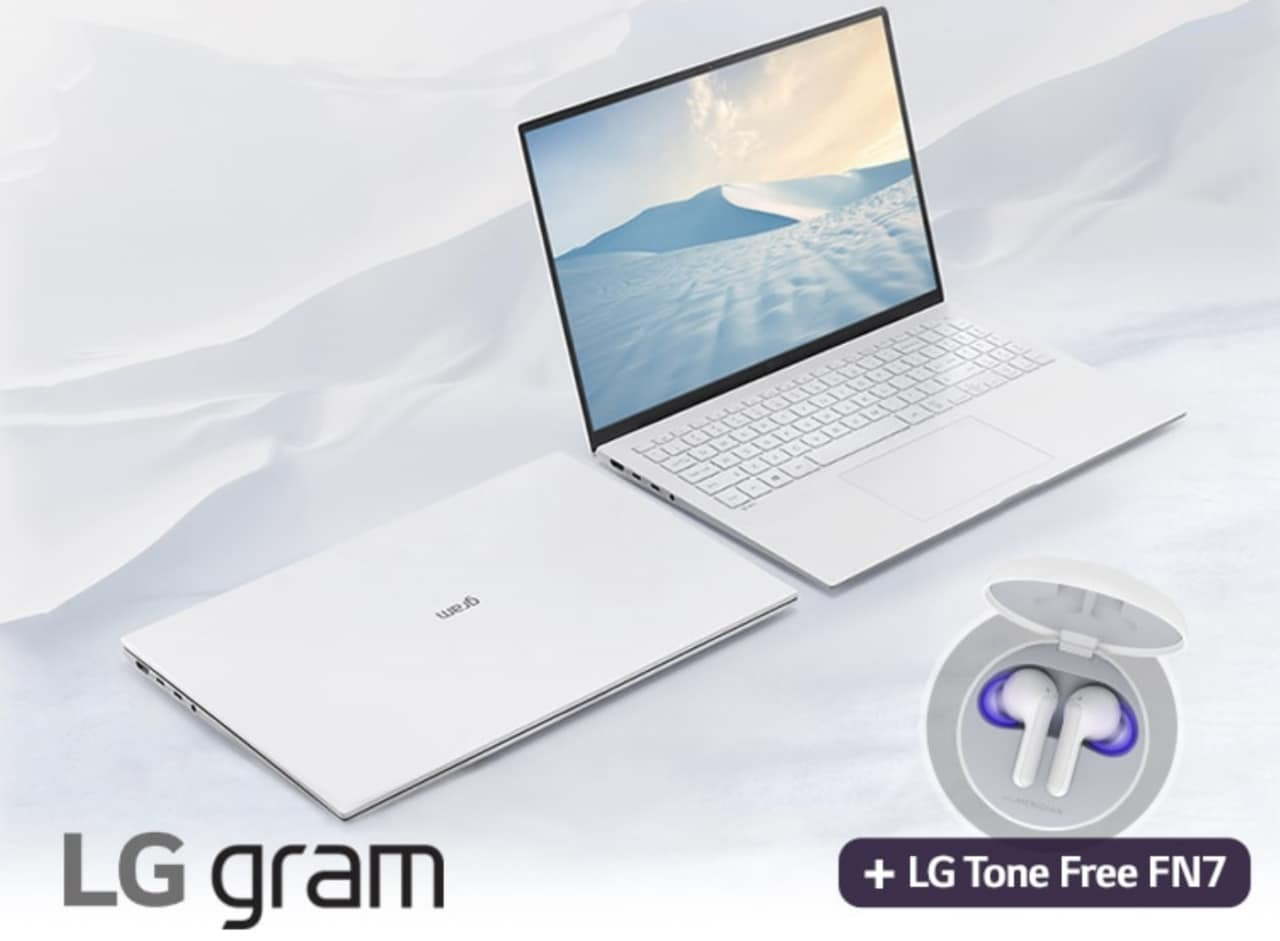 Promo LG: acquistando un LG Gram l'azienda regala le Tone Free FN7