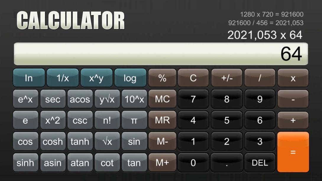 Avete sempre sognato fare calcoli su Nintedo Switch? Con l'economica app Calcolatrice ora è possibile!