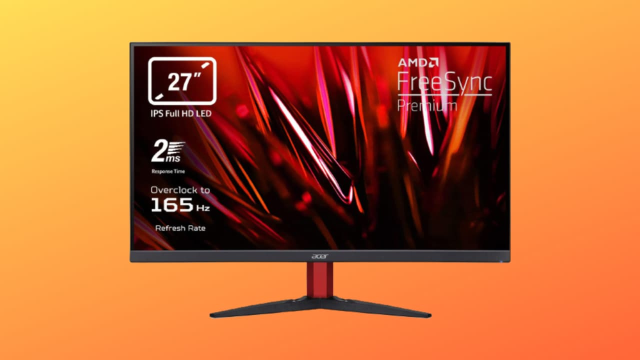 Monitor Gaming a 165 Hz in offerta su Amazon: Acer Nitro costa solo 189€