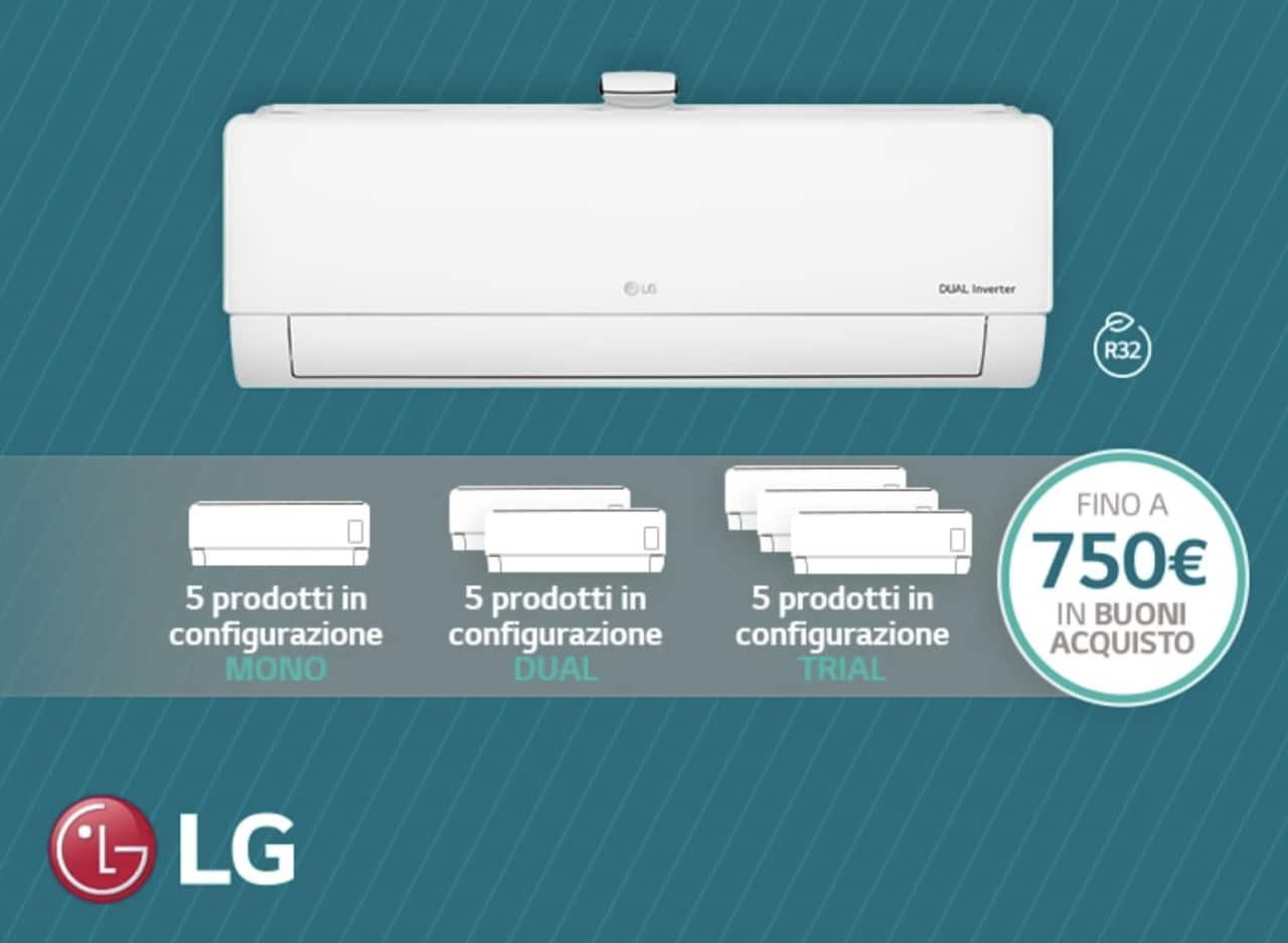 LG premia con i climatizzatori offrendo Buoni Acquisto fino a 750€