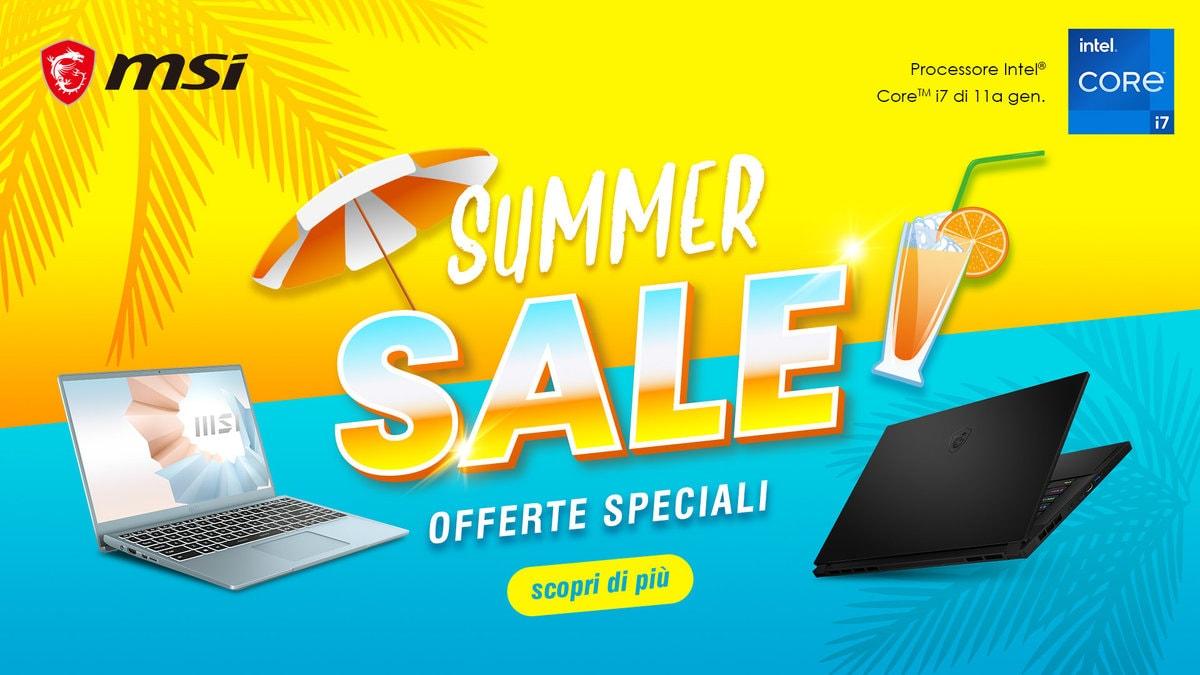 Offerte MSI fino al 27 giugno: sconti fino a 600€ per i PC gaming (foto)