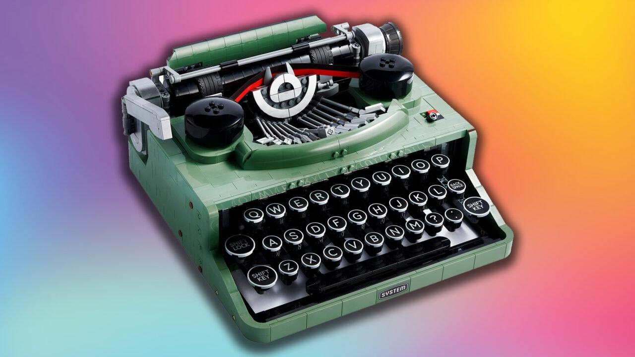 LEGO Macchina da Scrivere disponibile da oggi: bellissima replica di quella utilizzata dal fondatore LEGO