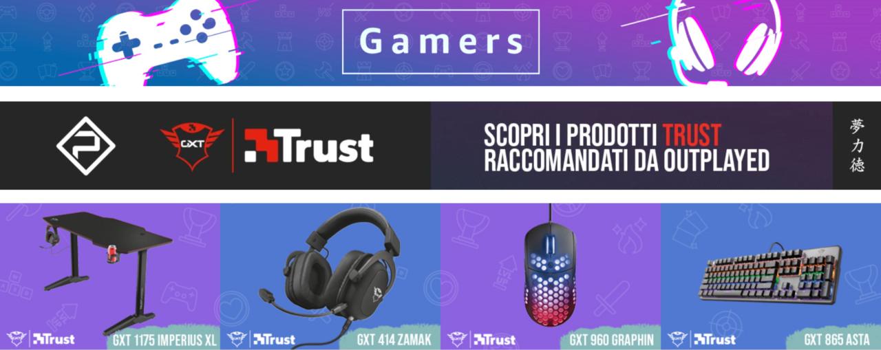 """Offerte """"Amazon Gamers"""" da non perdere: prodotti Trust in sconto fino al 43%"""