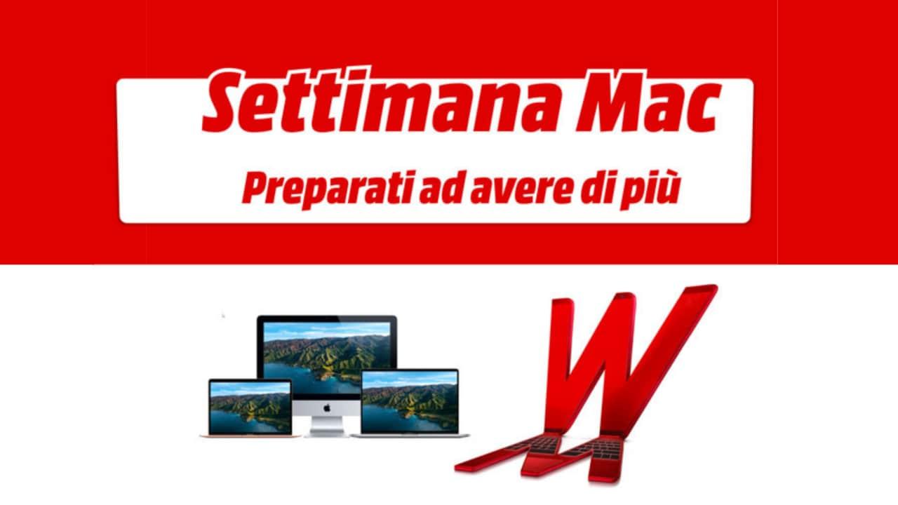 """Offerte MediaWorld """"Settimana Mac"""" fino all'11 luglio: sconti e Gift Card da 50€ in omaggio"""