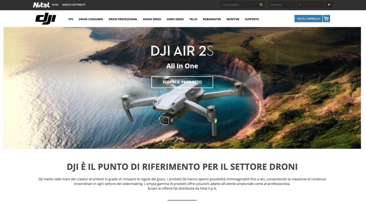 DJI ha una nuova casa in Italia: apre lo store online di Nital