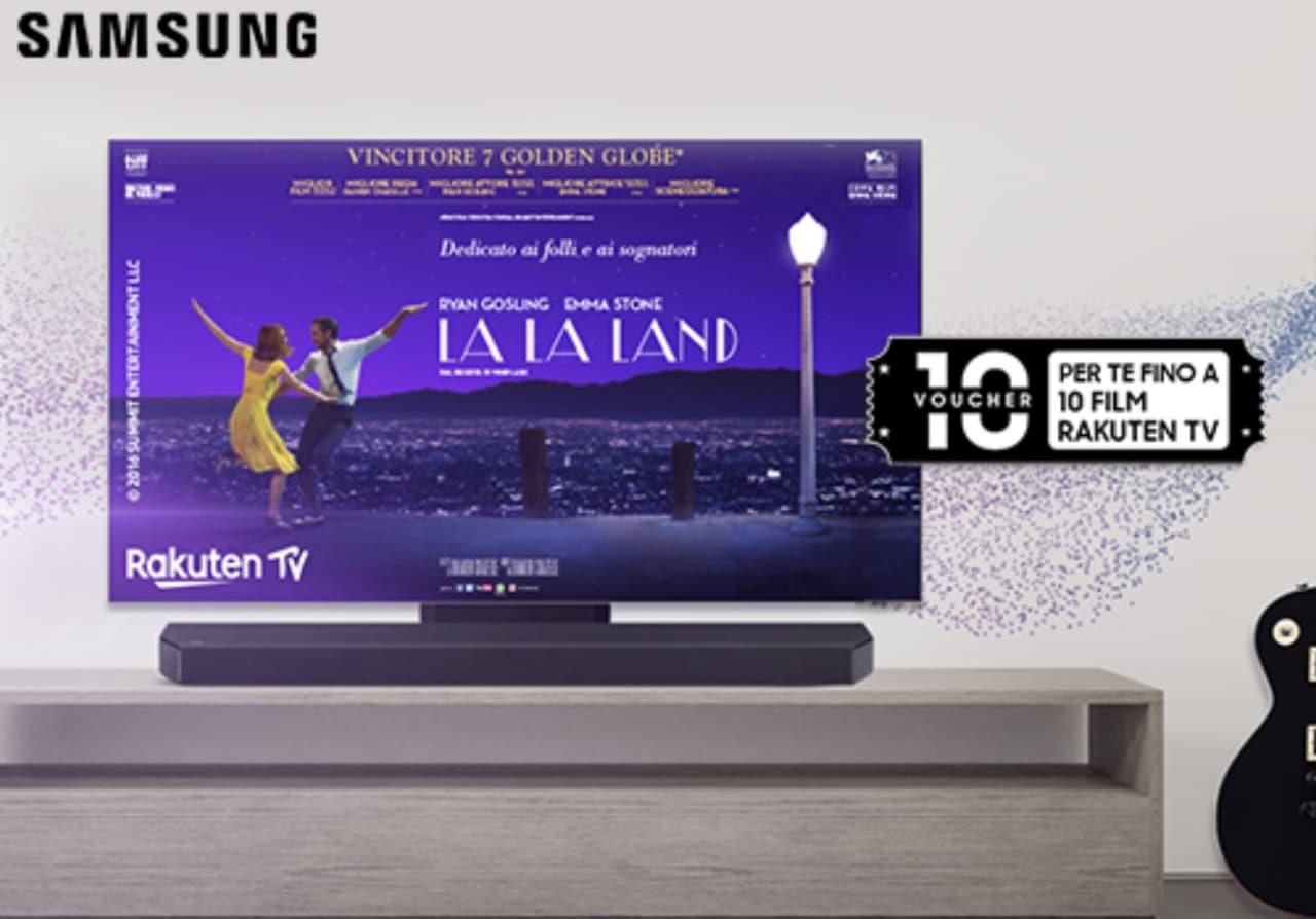 Promo Samsung: l'acquisto di una Soundbar fa ottenere fino a 10 voucher Rakuten TV