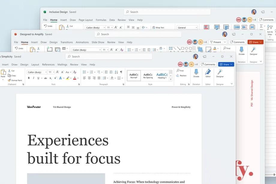 Microsoft sta smussando gli angoli delle sue app: ecco la nuova interfaccia di Office
