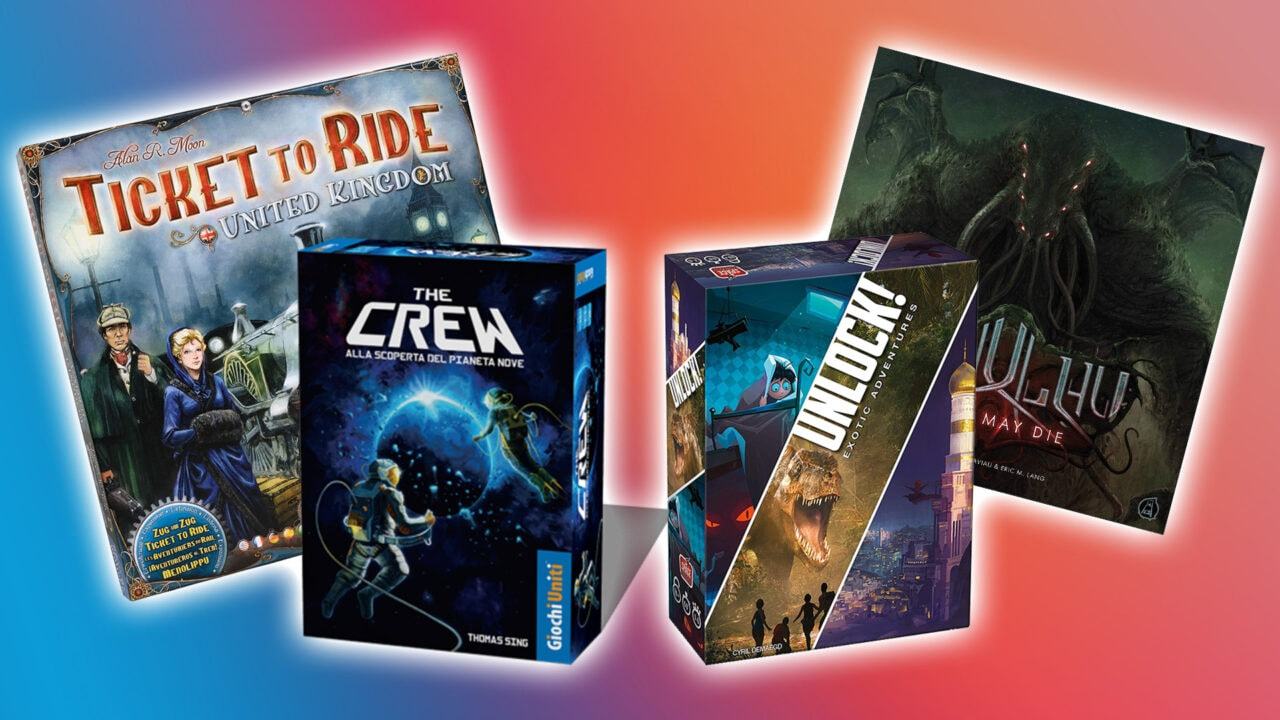 Tanti giochi da tavolo oggi in sconto su Amazon: Unlock, The Crew, Ticket to Ride, Terraforming Mars