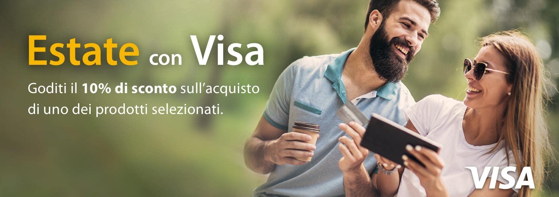 Sconto Amazon del 10% se pagate con Visa …