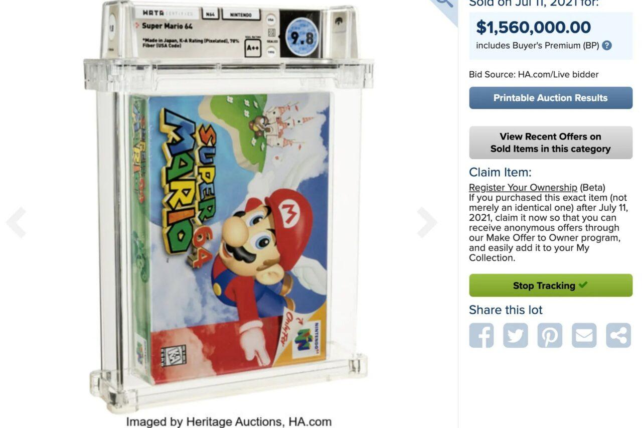 Mario batte Zelda: è Super Mario 64 il gioco più costoso mai venduto