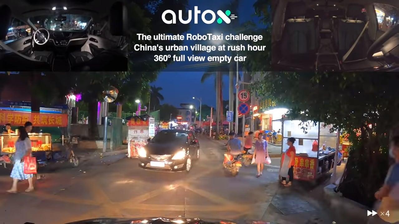 Il Robotaxi di AutoX si aggira per le strade di un villaggio a Shenzen (video)