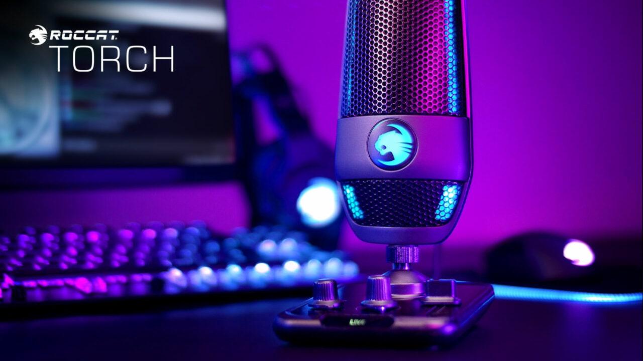 Roccat Torch: il microfono USB dalle qualità audio e funzionalità di alto livello (foto)