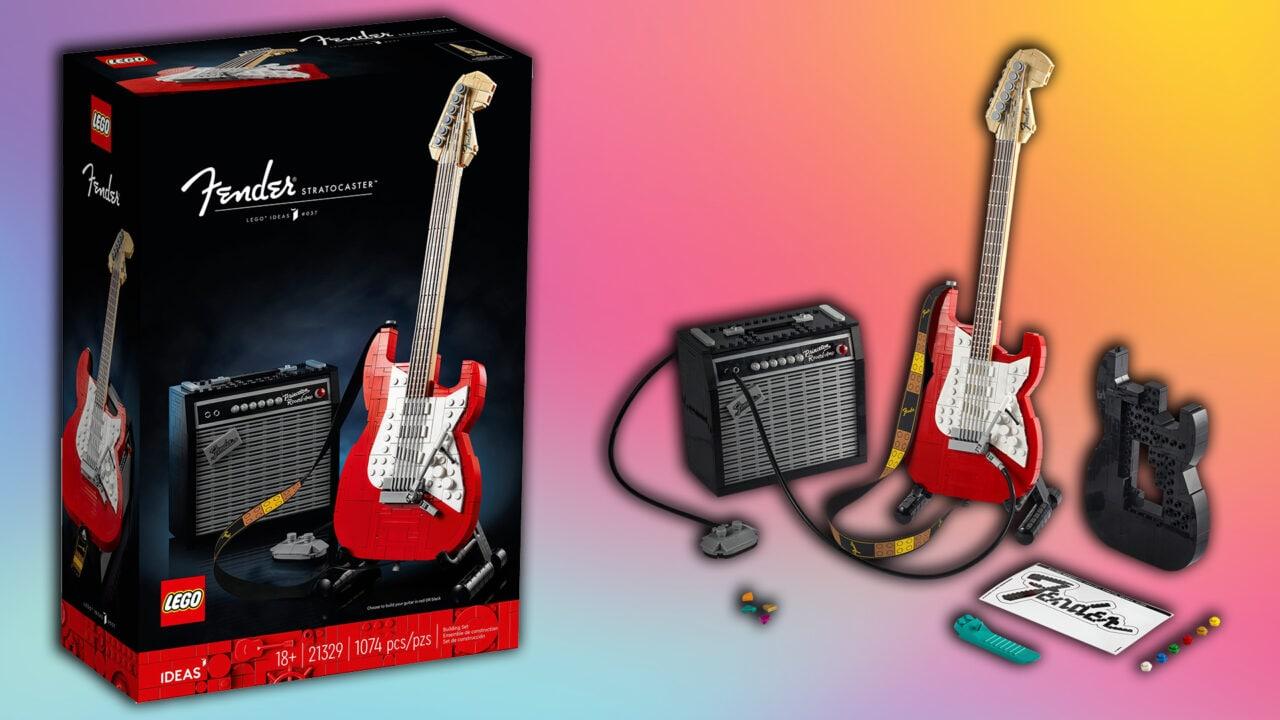 LEGO Fender Stratocaster è ufficiale: arriva ad ottobre ed è completa di corde, tracolla e amplificatore (foto)