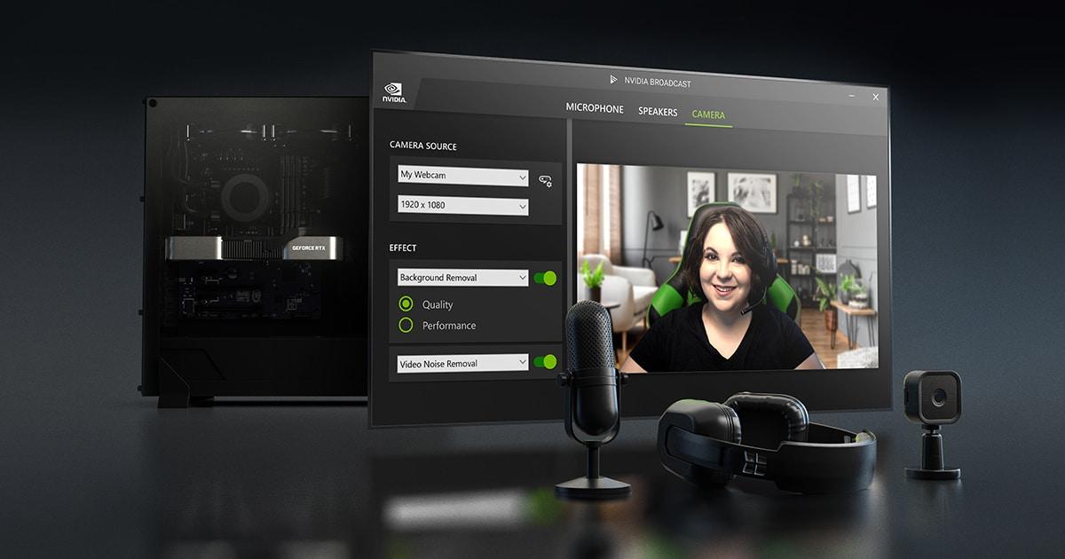 NVIDIA Broadcast si aggiorna: migliora la rimozione del rumore audio e la gestione delle performance