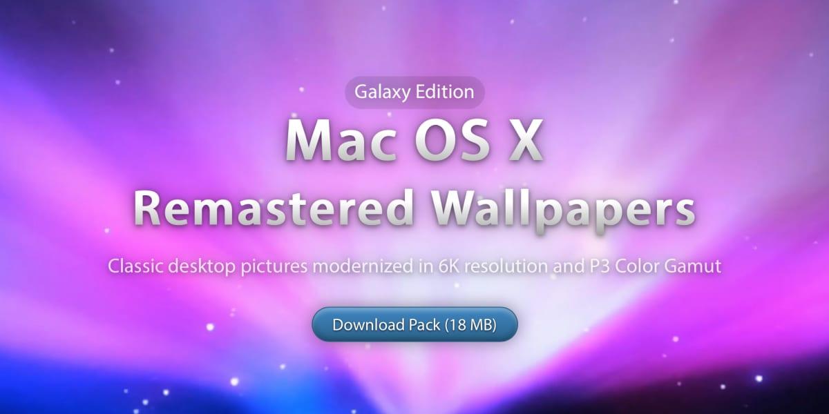 Se avete nostalgia delle vecchie versione di Mac OS X, questi sfondi sono quello che fa per voi