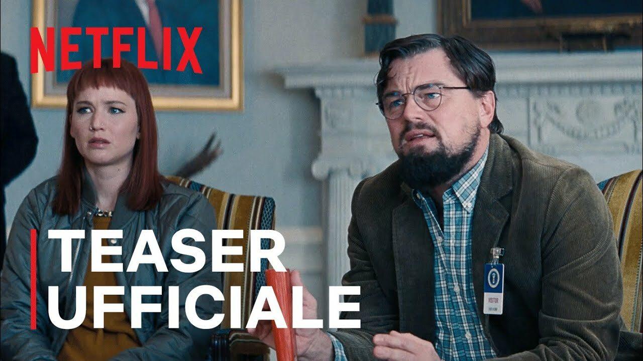 Arriva il primo trailer di Don't Look Up, il nuovo film Netflix con Leonardo DiCaprio e Jennifer Lawrence (video)